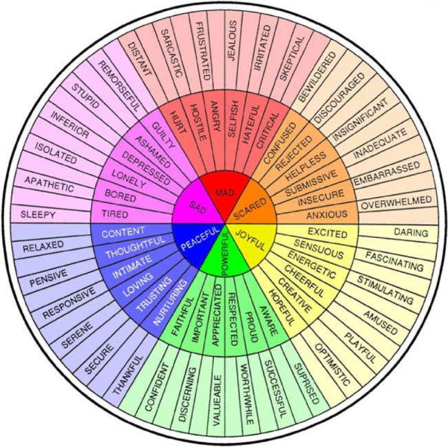 Color Feelings Enchanting Using A Feelings Wheel To Name And Understand Emotions  Hope 4 . Inspiration