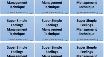 Super Simple Feelings Management Technique Activity Cards